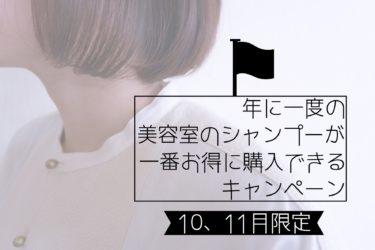 【恒例】年に1度の美容室のシャンプーが1番お得に買えるキャンペーン
